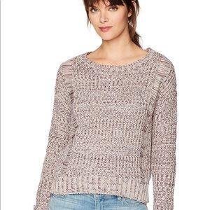NWOT Freshman Women Boatneck Drop Shoulder Sweater